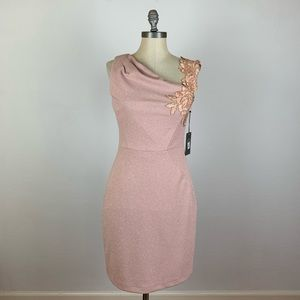 Vince Camuto Glitter Floral Dress